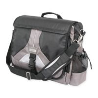 Geoffrey Beene Tech 14-Inch Messenger Bag in Black/Grey