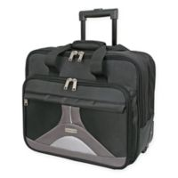 Geoffrey Beene Tech 7-Inch Rolling Business Case in Black/Grey