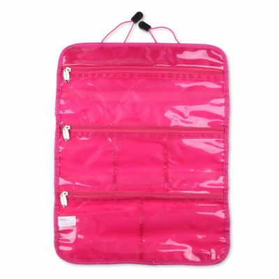 miamica nylon jewelry roll in pink - Jewelry Roll