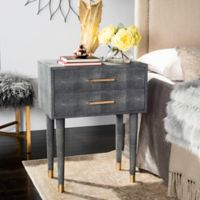Safavieh Couture Nour Shagreen End Table in Black