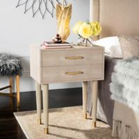 Safavieh Couture Nour Shagreen End Table in Beige