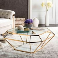 Safavieh Couture Abena Geometric Coffee Table in Gold
