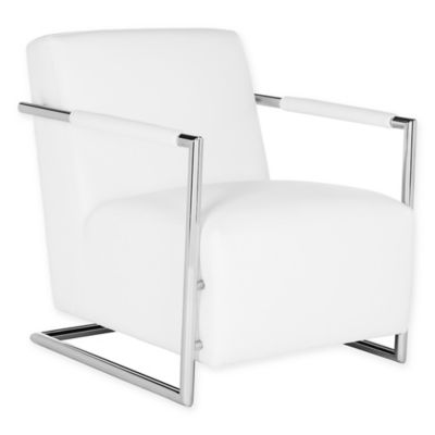 Safavieh Couture Ivan Leather Club Chair In White
