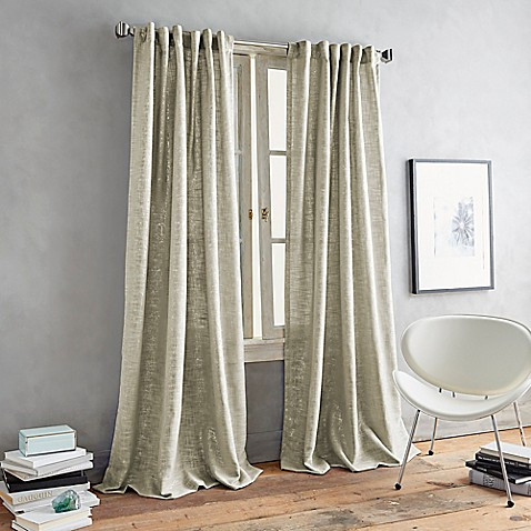 Dkny Urban Luster Back Tab Window Curtain Panel Bed Bath