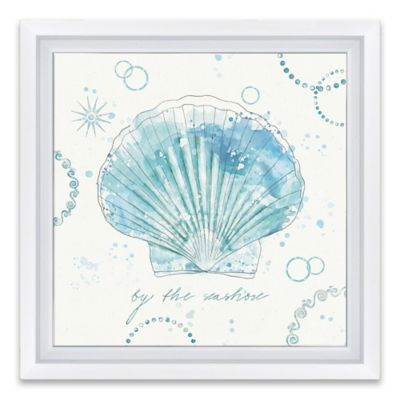 coastal splash ii framed canvas wall art