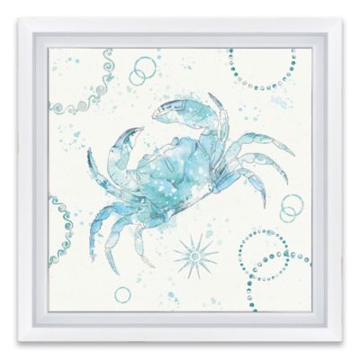 coastal splash iv framed canvas wall art