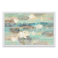 Water Lilies 36-Inch x 24-Inch Framed Canvas Wall Art