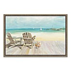 Seaside Morning No Window Framed Canvas Wall Art