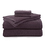Martex Staybright 6-Piece Texture Towel Set in Plum