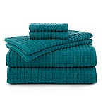 Martex Staybright 6-Piece Texture Towel Set in Teal