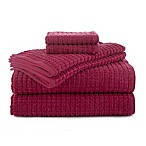 Martex Staybright 6-Piece Texture Towel Set in Magenta
