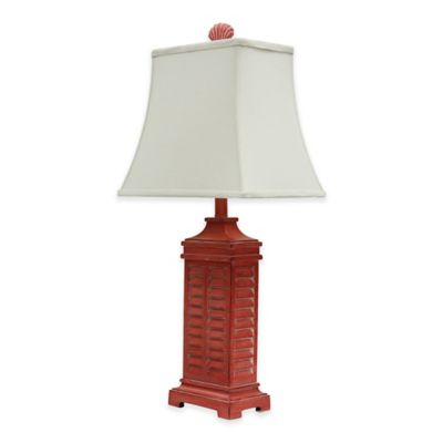Coastal Shutter Table Lamp In Red
