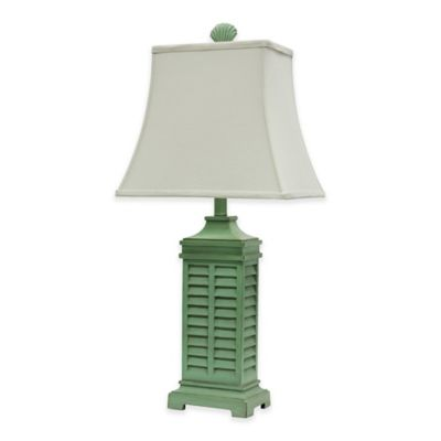 Coastal Shutter Table Lamp in Green - Buy Light Green Table Lamp From Bed Bath & Beyond