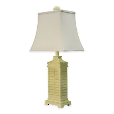 Coastal Shutter Table Lamp In Yellow