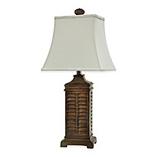 Coastal shutter table lamp bed bath beyond coastal shutter table lamp aloadofball Choice Image