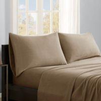True North by Sleep Philosophy Micro Fleece California King Sheet Set in Mink