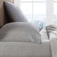 Brooklyn Loom 300-Thread-Count Herringbone Yarn-Dyed Queen Sheet Set in Grey