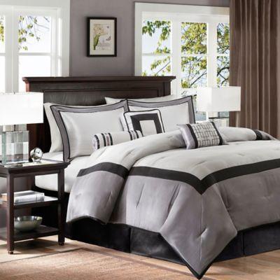 madison park genevieve 7piece california king comforter set in black