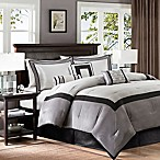 Madison Park Genevieve 7-Piece King Comforter Set in Black