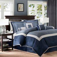 Madison Park Genevieve 7-Piece Queen Comforter Set in Navy