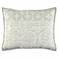 Nico Standard Pillow Sham in Grey/Aqua