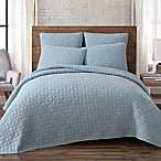 Brooklyn Loom Lincoln King Quilt Set in Blue
