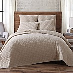 Brooklyn Loom Lincoln Full/Queen Quilt Set in Khaki