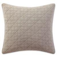 Brooklyn Loom Lincoln European Pillow Sham in Khaki