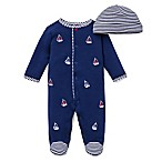 Little Me® Preemie 2-Piece Sailboats Footie and Hat Set