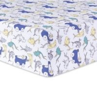 Trend Lab® Dr. Seuss™ New Fish Fitted Crib Sheet in Blue/Green