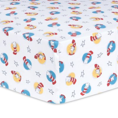 crib bedding sets u003e trend lab dr seuss cat in the hat fitted