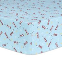 Trend Lab® Dr. Seuss™ Cat in the Hat Tipping Hat Fitted Crib Sheet in Red/Blue