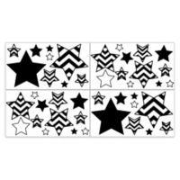 Sweet Jojo Designs Chevron Wall Decals in Black/White