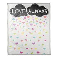 "Designs Direct ""Love Always"" Cloud Throw Blanket"