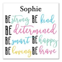 """Designs Direct Be Bold Collection 16-Inch x 16-INch """"Be Everything"""" Canvas Wall Art"""