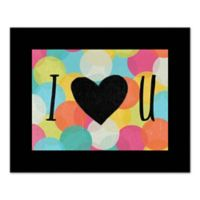 """Designs Direct Be Bold Collection 20-Inch x 16-Inch """"I Heart You"""" Canvas Wall Art"""