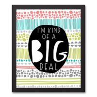 """Designs Direct Be Bold Collection 11-Inch x 14-Inch """"I'm Kind of a Big Deal"""" Canvas Image Box"""