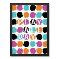 "Designs Direct Be Bold Collection 12-Inch x 18-Inch ""Play All Day"" Canvas Wall Art"