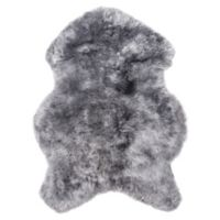 Natural 100% Icelandic Sheared Sheepskin 2-Foot x 3-Foot Accent Rug in Grey