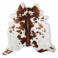 Natural Rugs Kobe Cowhide 6-Foot x 7-Foot Area Rug in Salt and Pepper/Brown