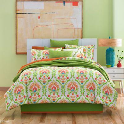 J by J. Queen New York Panama Queen Comforter Set in Citrus