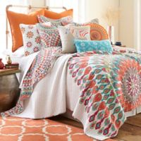 Levtex Home Marais Reversible Twin Quilt Set in Red