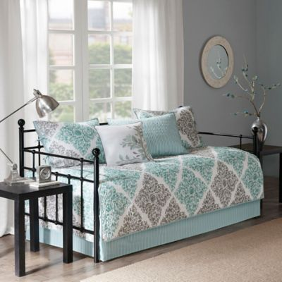 Madison Park Essentials Claire Daybed Set In Aqua