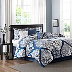 Madison Park Vienna Queen Comforter Set in Indigo