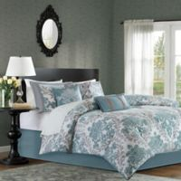 Madison Park Bella 7-Piece King Comforter Set in Aqua