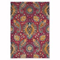 Safavieh Madison Gilly 6-Foot 7-Inch x 9-Foot 2-Inch Area Rug in Fuchsia/Gold