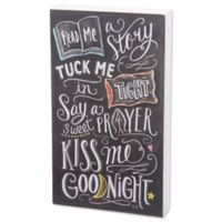 """Primitives by Kathy """"Read Me a Story"""" Chalk Sign in Black"""