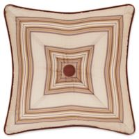J. Queen New York™ Serenity Lattice Piped Square Throw Pillow in Spice