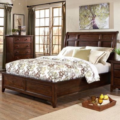 intercon jackson queen sleigh bed - Elevated Queen Bed Frame