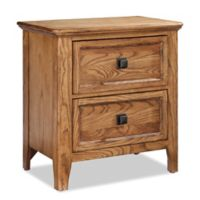Intercon Furniture Alta 2-Drawer Nightstand With Outlets in Brushed Ash